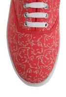 Red Fox Print Lace-up