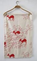 Duikers in aloe red tea towel
