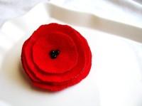 True Love Red Poppy Corsage