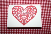 red heart note