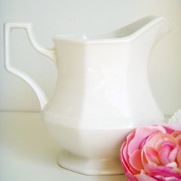 Sweet White Ironstone Creamer